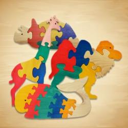 """""""Wood You Like"""" Large Animal Jigsaw Toys"""