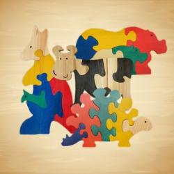 """""""Wood You Like"""" Larger Animal Jigsaw Toys"""